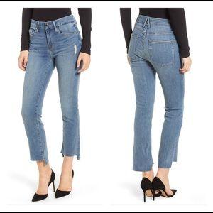 Good American Good Straight Raw Hem Jeans Size 4